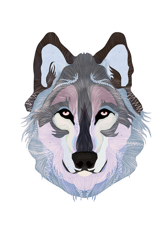 White Tofino Wolf by Danielle Noel