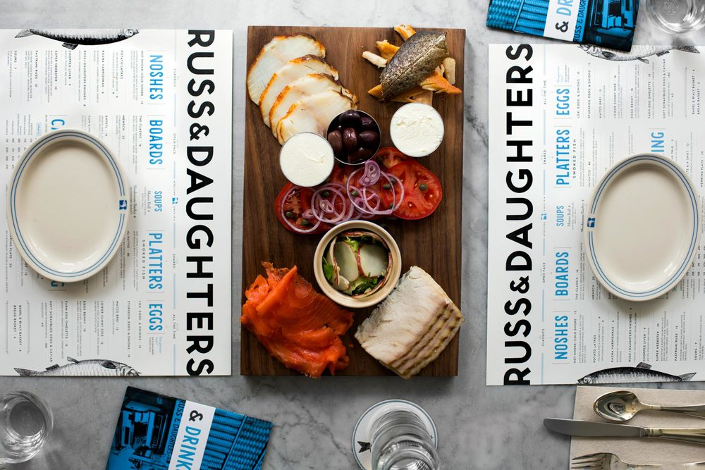 See Russ & Daughter's full brand identity, created by designer Kelli Anderson, here.
