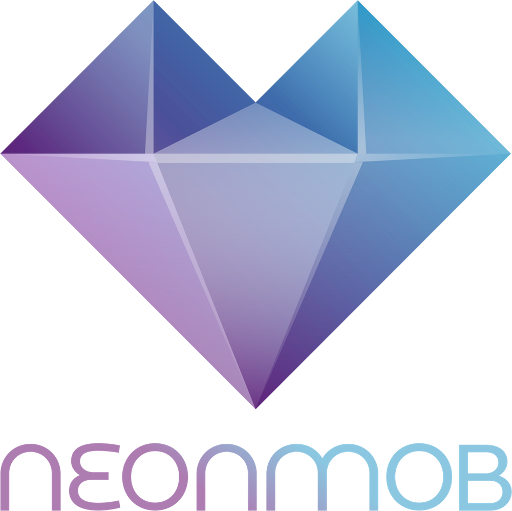 NeonMob logo with name 1000x1000 pixels