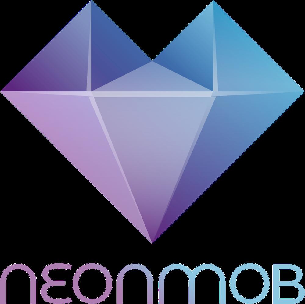 NeonMob logo with name 1000x1000 pixels