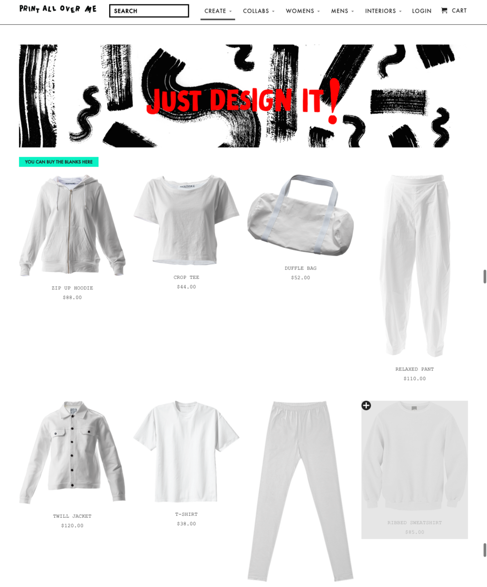 Just some of the choices of clothing and accessories you can design