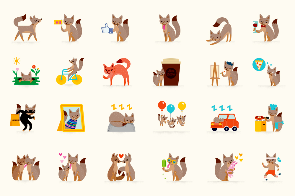 Facebook Foxes designed by Jayde Fish