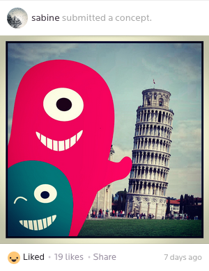 A collection of monster selfies taken at famous landmarks – concept by @Sabine