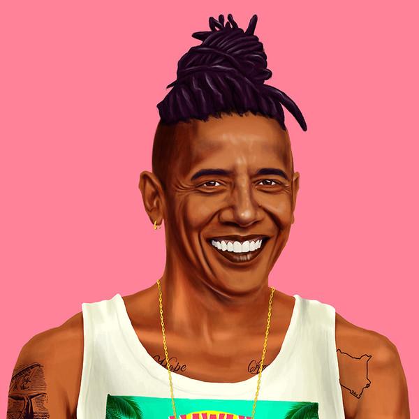 Barack Obama (All images copyright Amit Shimoni, courtesy of the artist)
