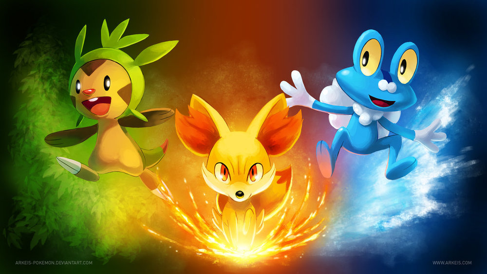 Pokemon X and Y Starters by Arkeis Pokemon