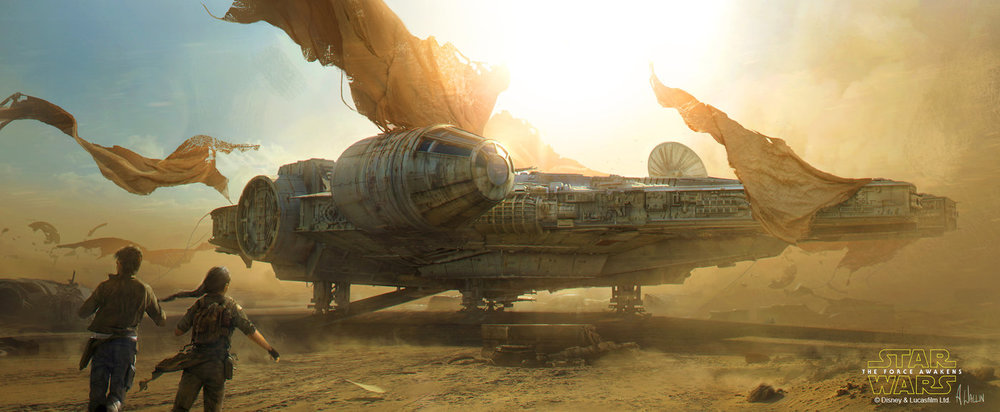Star Wars: The Force Awakens - Millennium Falcon by AndreeWallin