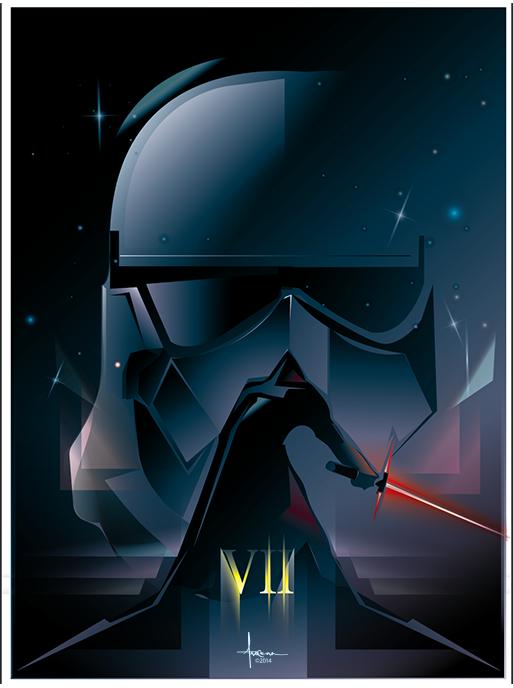 The Dark Side - Vector Sketch by Orlando Arocena