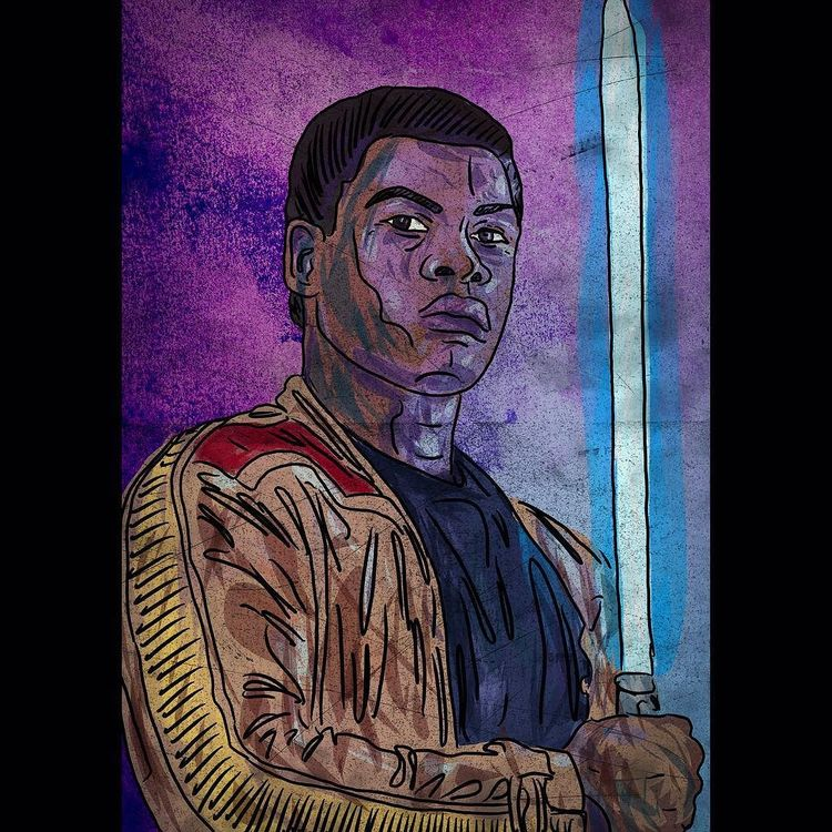 Finn from The Force Awakens by Mike Brennan