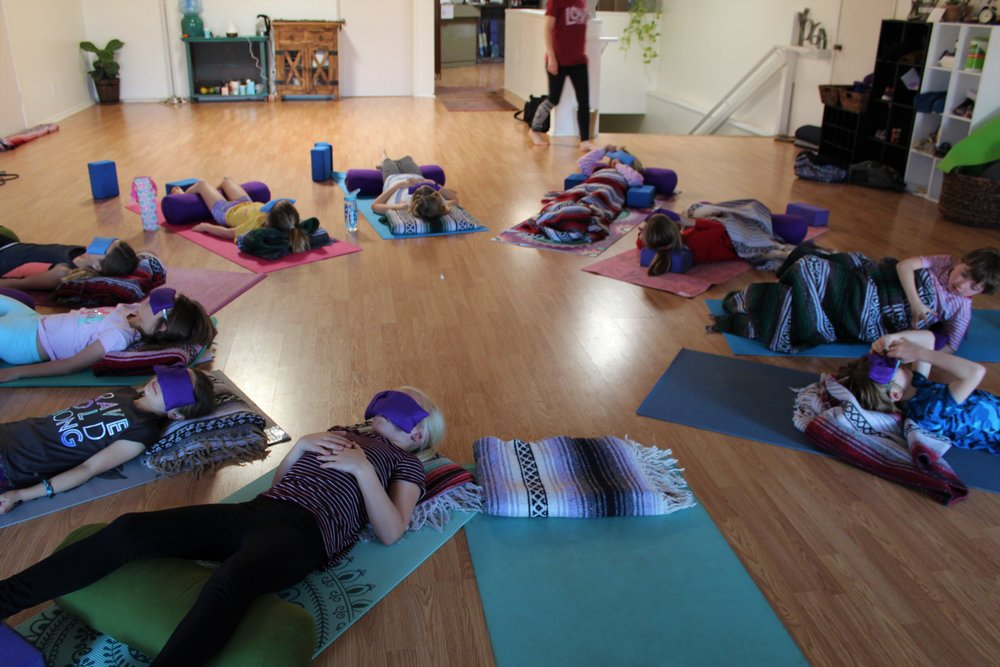Sweet Sweet Savasana aka final relaxation in Kids Yoga