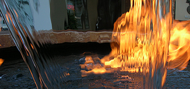 Water And Fire Features For Backyards : Go Back > Gallery For > Backyard Fire And Water Features