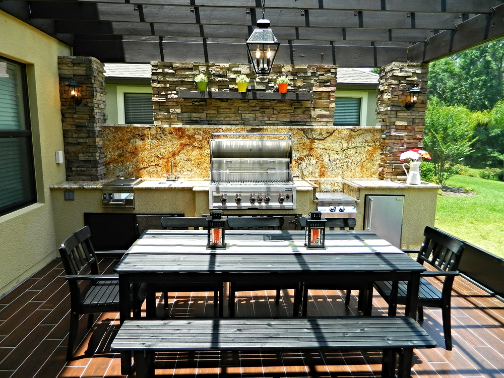 Outdoor kitchens gallery premier outdoor living design for Outdoor kitchens orlando