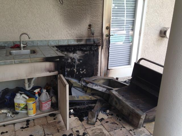 Outdoor kitchen fire in florida the importance of the for Outdoor kitchen grill hood