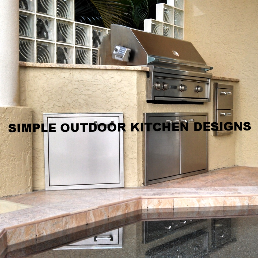 Simple Outdoor Kitchen Designs