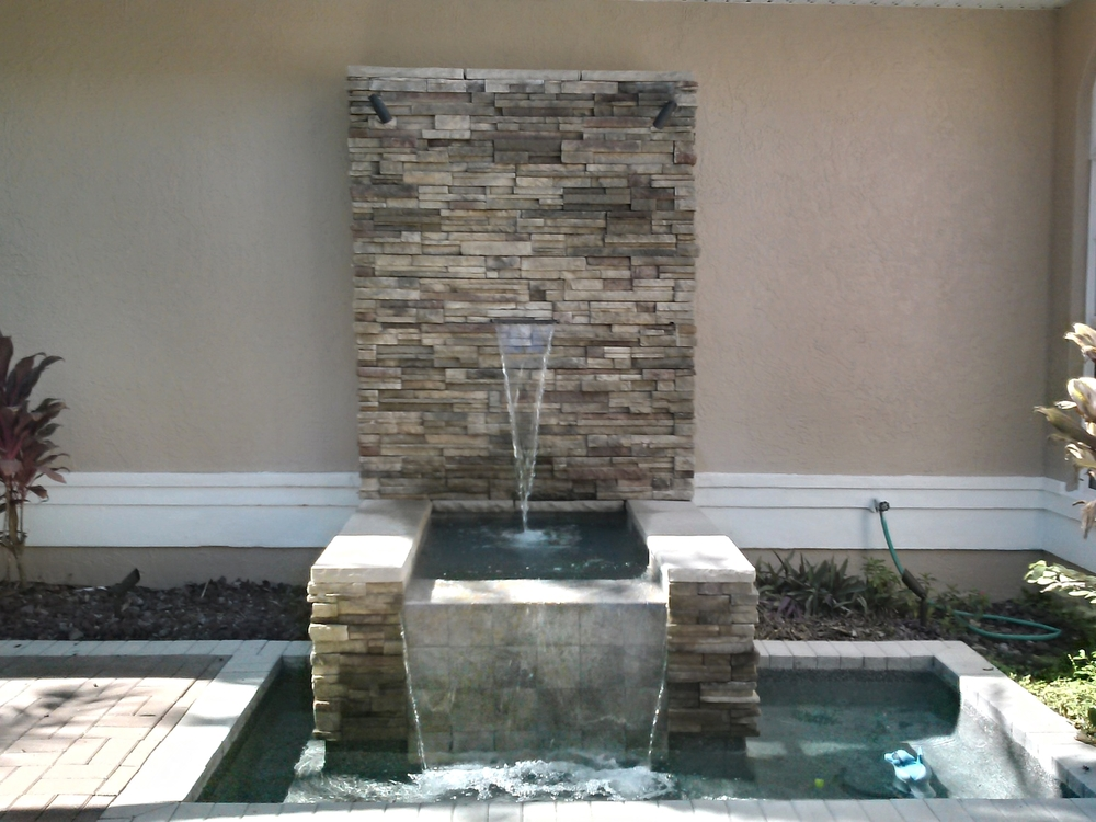 Clark Outdoor Kitchen & Water Feature 5