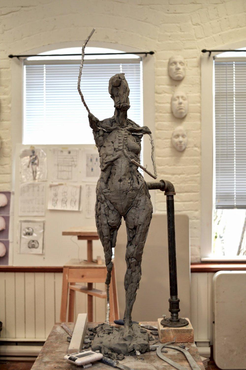 Sculpting A Female Figure Sculpture in Clay post 3- Torso, Head and ...