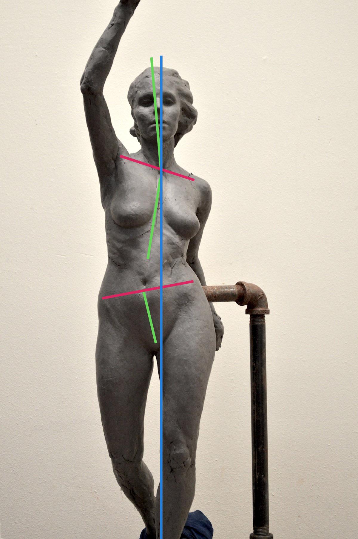 Sculpting A Female Figure Sculpture in Clay post 4- Spot the Difference:  Gesture — Melanie Furtado Sculpture