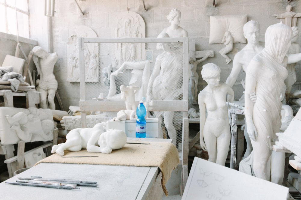 Marble Studio, Pietrasanta. Photo credit: Simon DesRochers