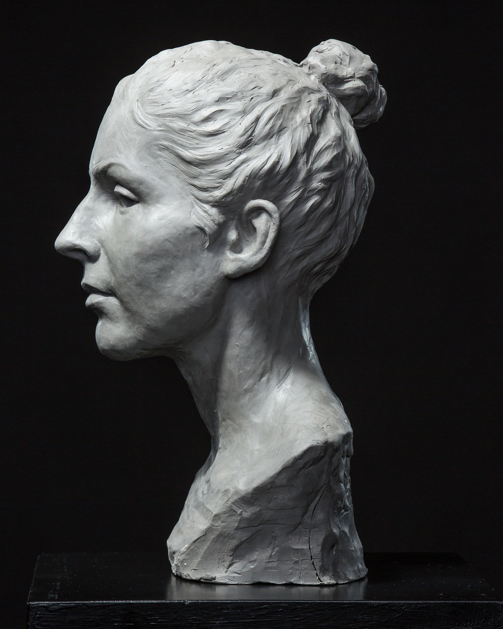 Female Portrait Study in Clay
