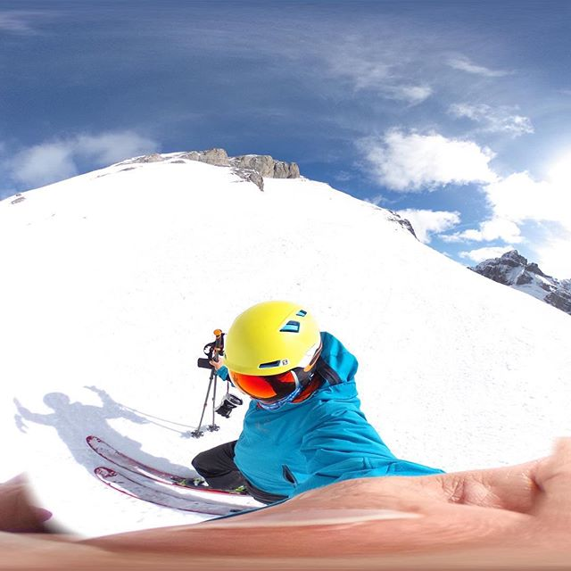 Playtime with the 360^ camera. (Yes, it's only half the shot)  #banff #yyc #apparelinnovation
