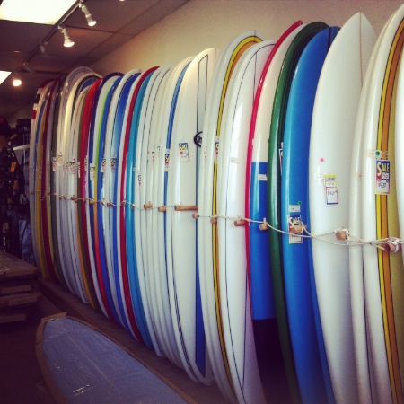 Board line up at Sundown Surf and Ski. Pic: Dion Mattison.