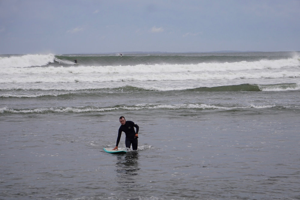 "Dion exiting the water at ""Trestles"", Hermine Day 2."