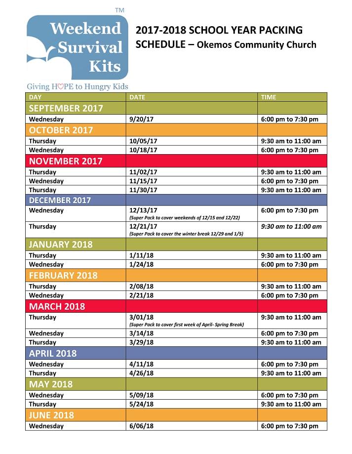 Weekend Survival Kits OCC Packing Schedule 2017-2018 - Color.jpg