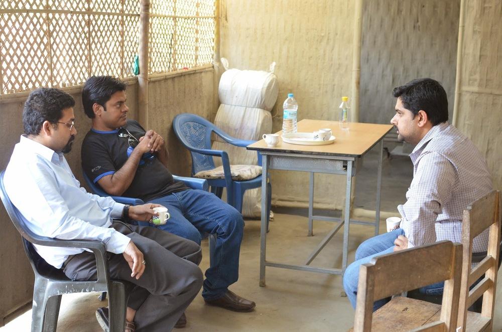 Anirban Gupta, Sreejith Nedumpully and Arindum Dasgupta, Tamul Plates 3-7-14.JPG