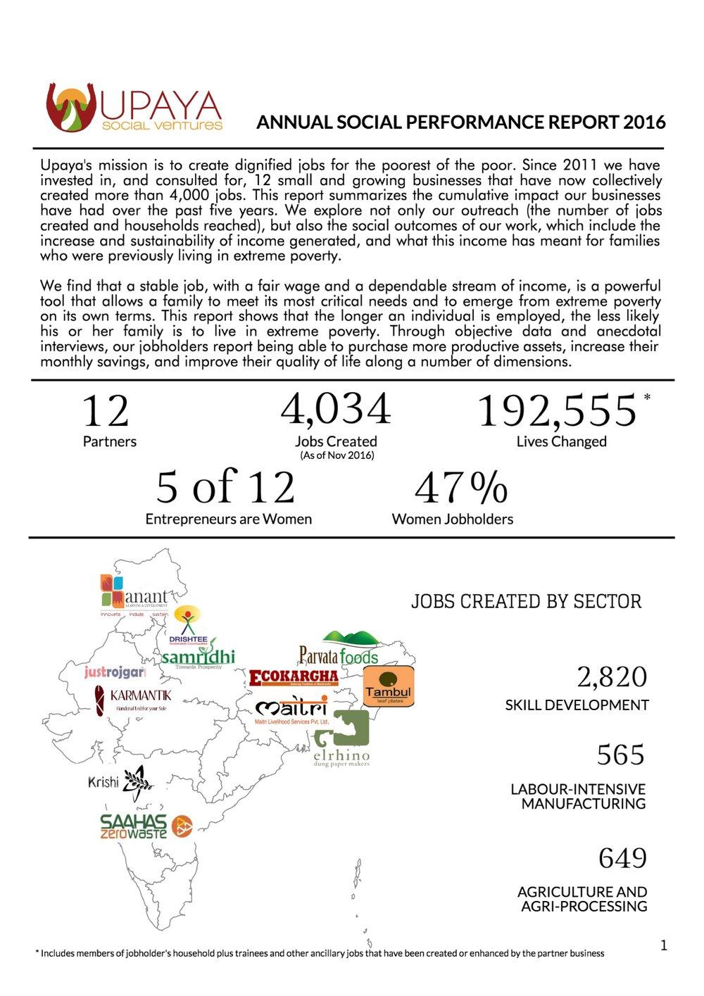 2011-2016 Social Performance Report