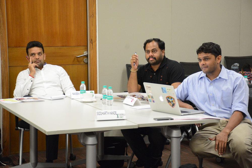 Naveen Mehta, SMV Green Solutions  Amit Deep Kumar, KhanaGaDi  Siddarth Hande, Kabadiwalla Connect