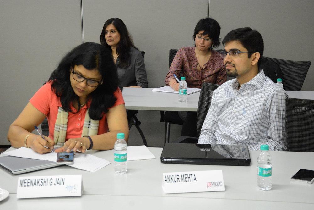 Meenakshi Gupta Jain, Helper4U  Sharmila Rathinam, Upaya  Aparna Arora, Upaya  Ankur Mehta, JobNukkad