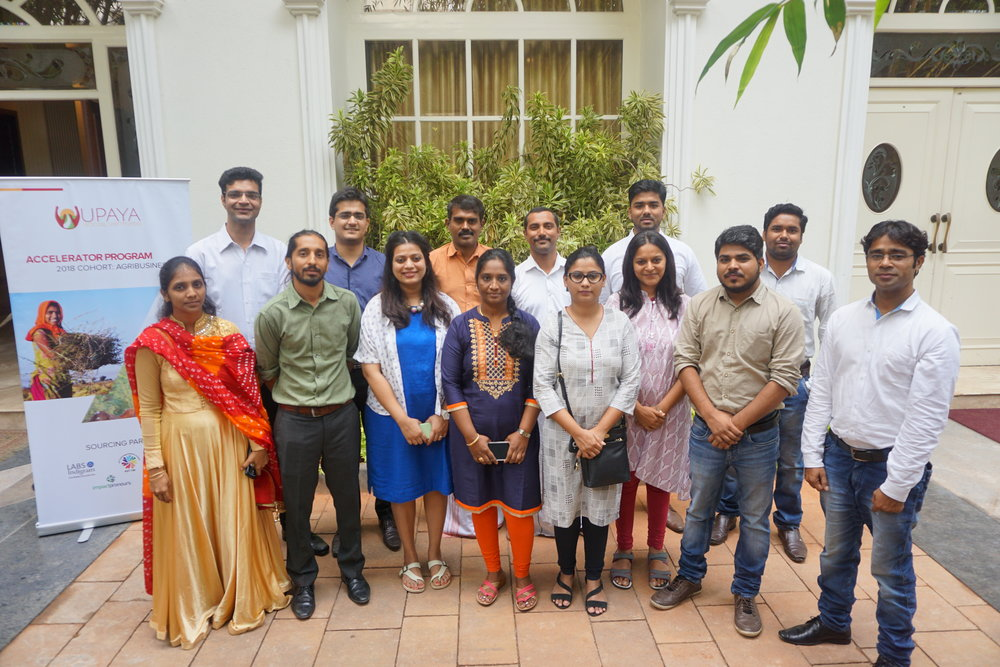 Leaders from 11 agribusinesses attended Upaya's accelerator workshop in Bangalore.