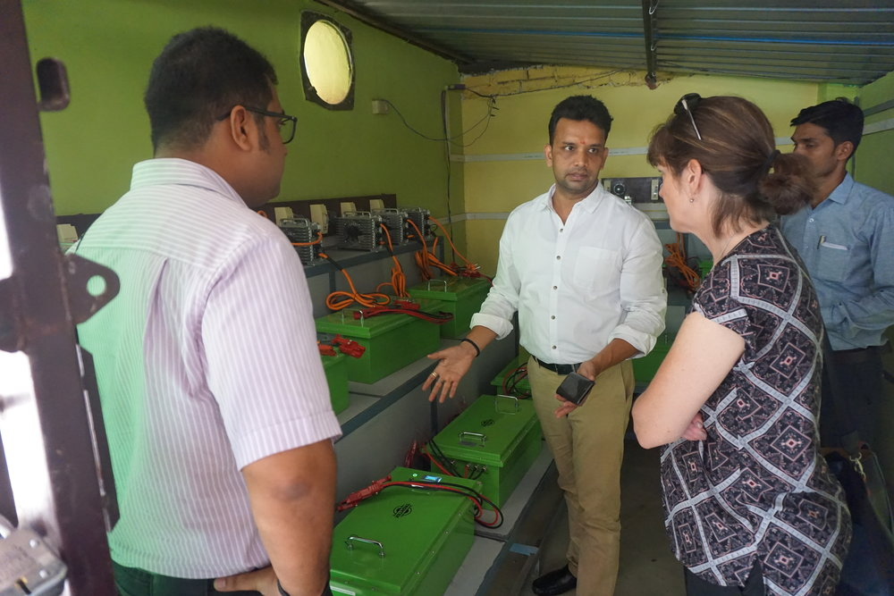 Naveen tells Alex and Kate about SMV's lithium-ion battery project