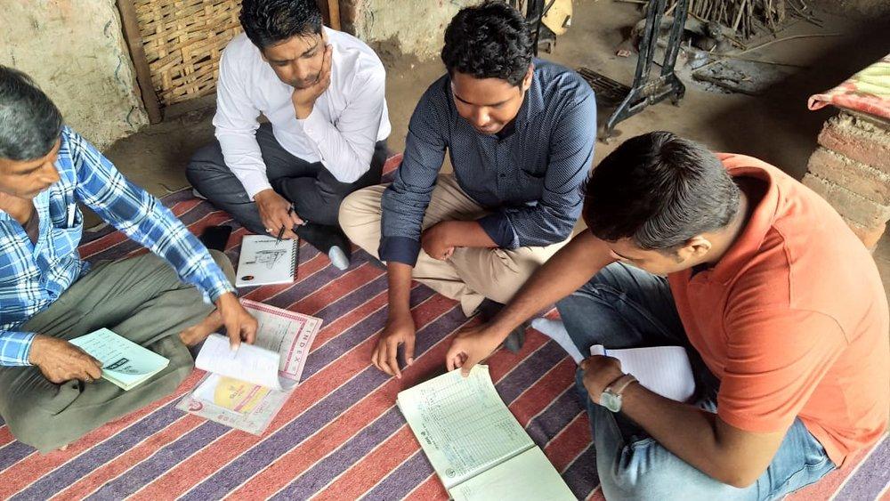Upaya's Amit Choudhary meeting with GramShree staff in Udaipur, Rajasthan