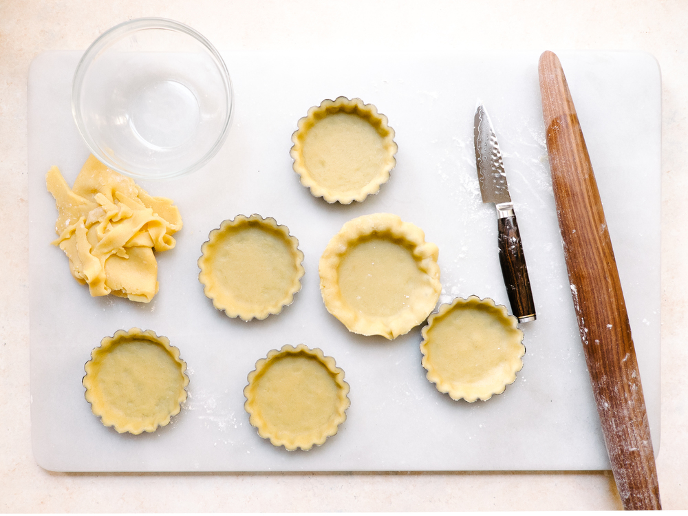 Chocolate Macadamia Tartlets Recipe — Dishmaps