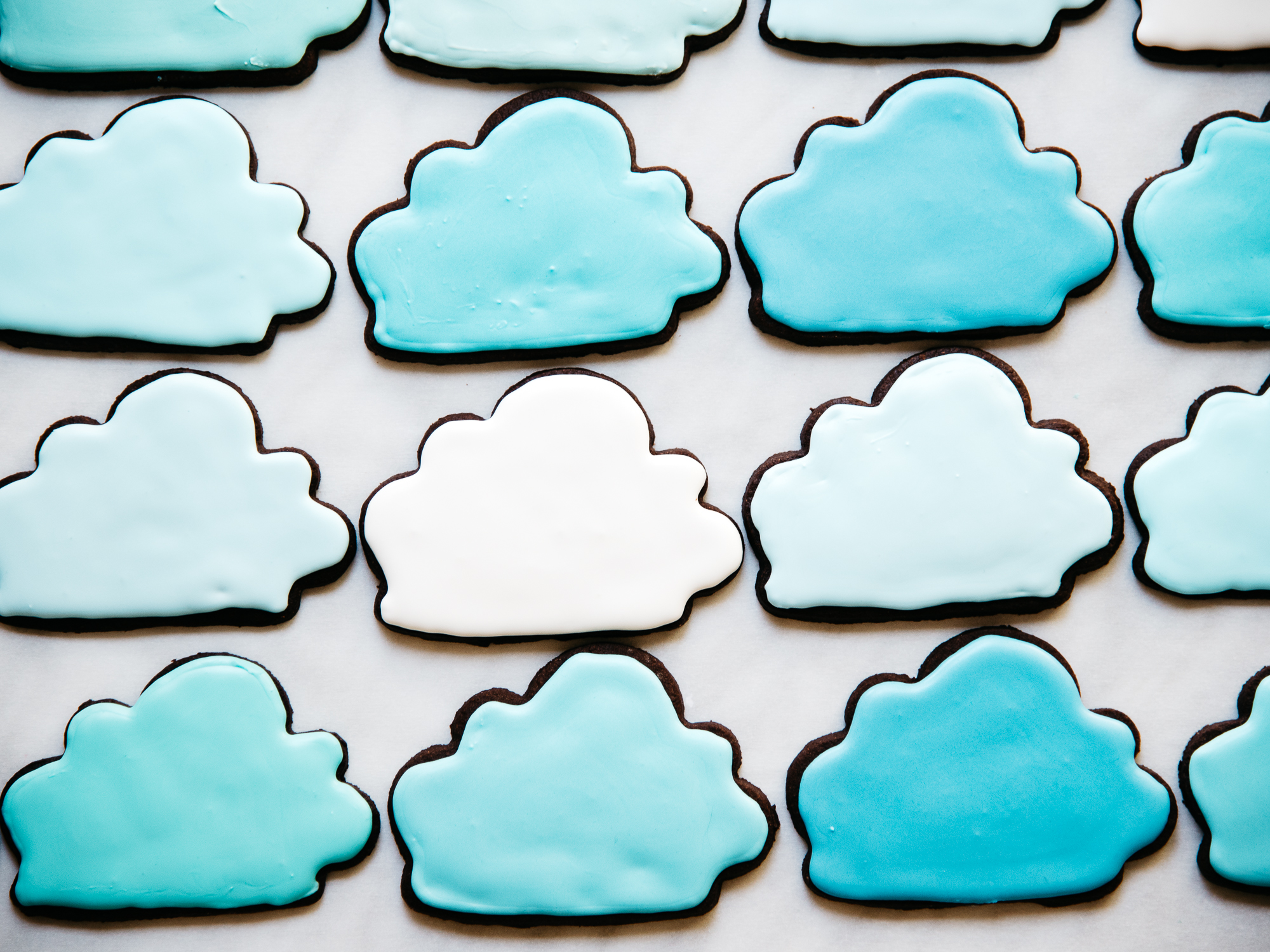 Iced Chocolate Brownie Cloud Cookies — Fix Feast Flair
