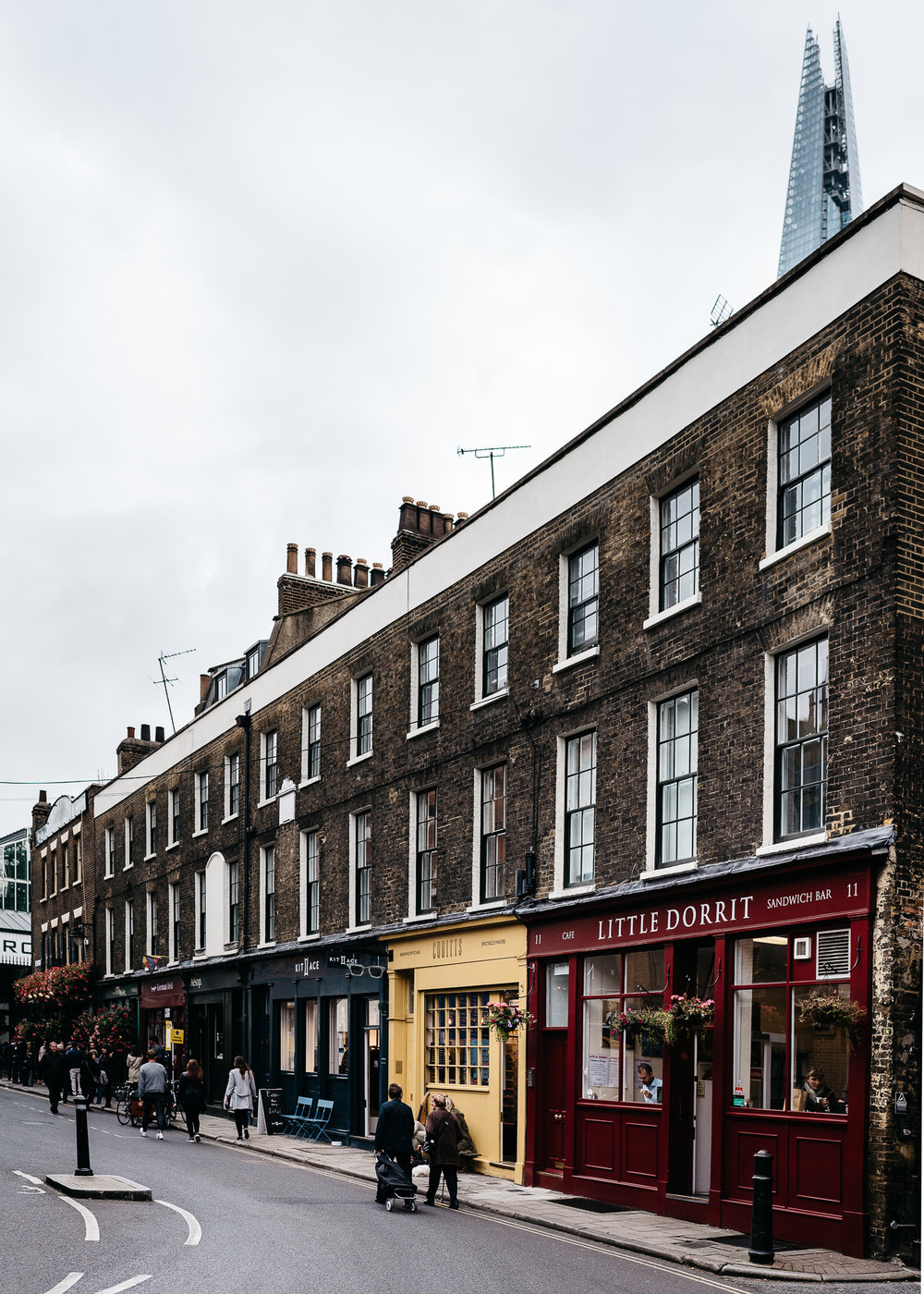 Cute row of shops on Park STreet, right next to Borough Market