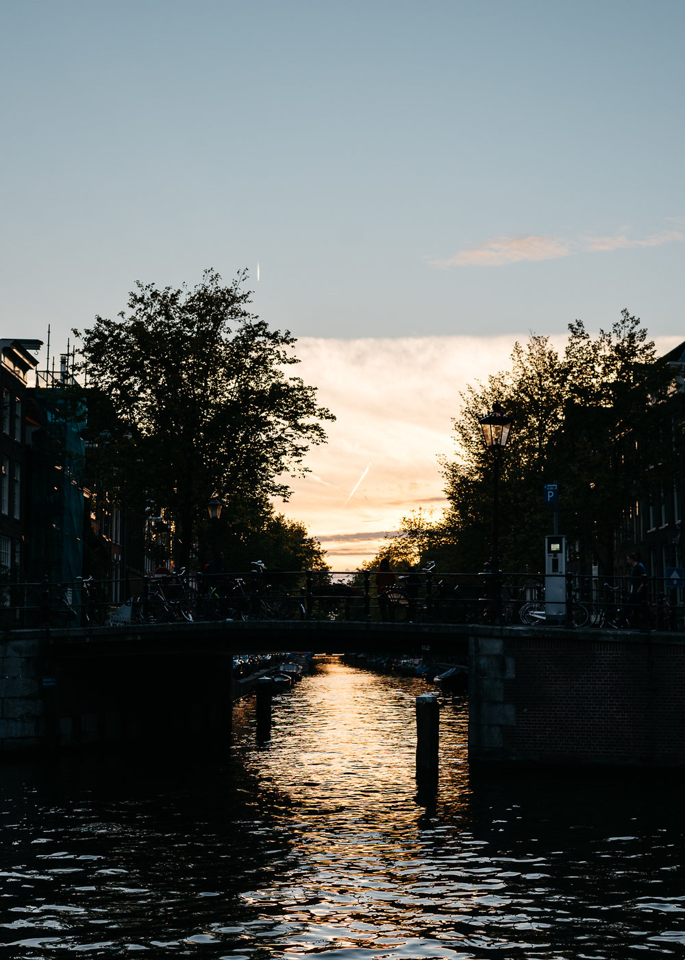 Sun setting over the canals