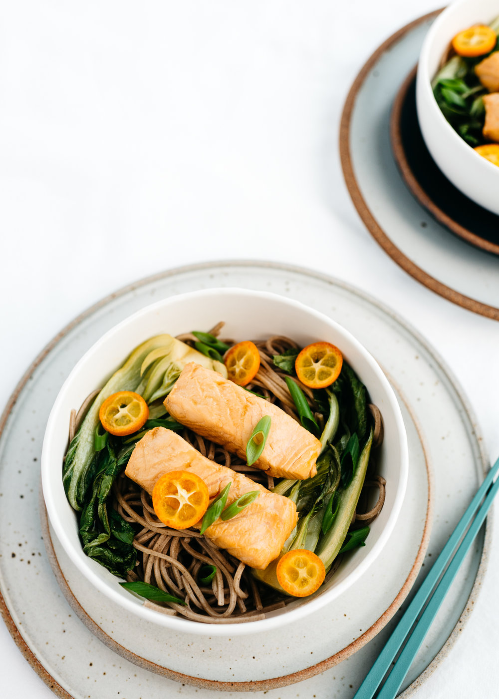 Soy-Ginger Poached Salmon with Soba Noodles — Fix Feast Flair