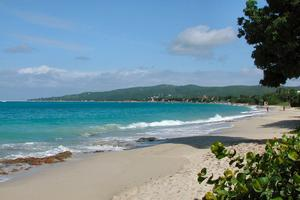 Beautiful white sandy beach 1/2 mile from the cruise ship pier. We have beach chairs, umbrellas and snorkel gear to rent and wonderful tropical drinks to delight in!