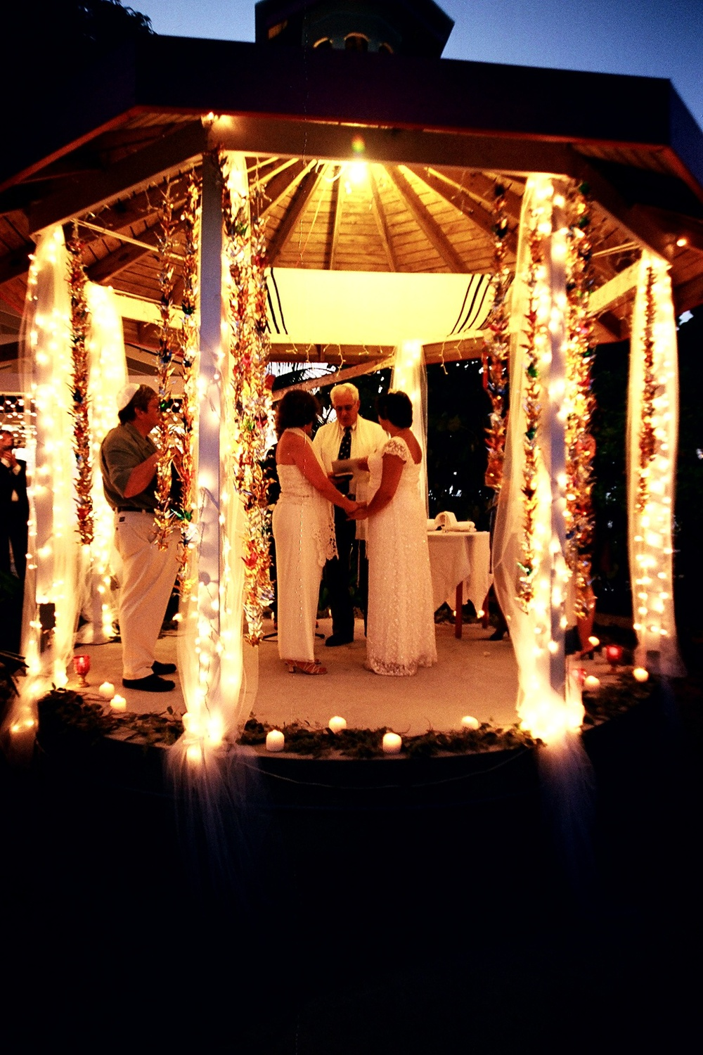 Beach Side Cafe Gazebo Caribbean Wedding