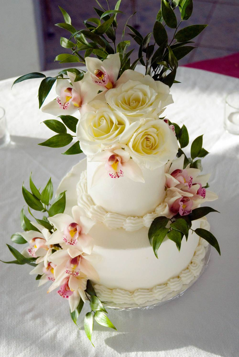 Beautiful Custom Caribbean Wedding Cake