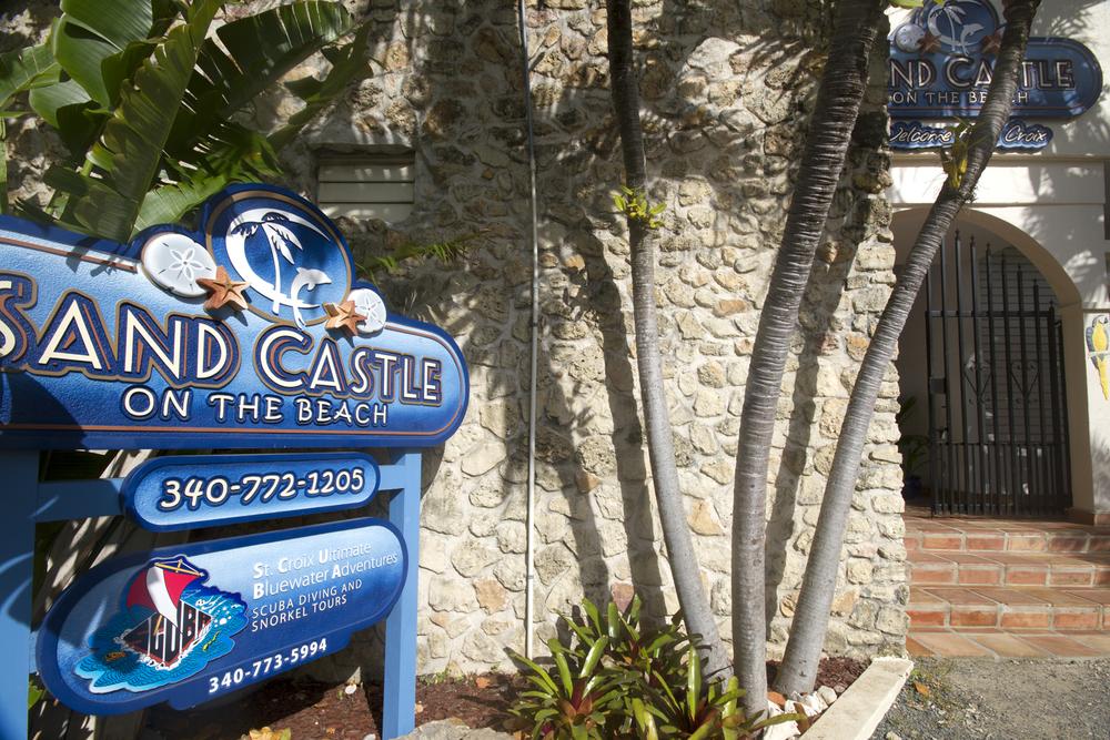 Sand Castle on the Beach Front Door