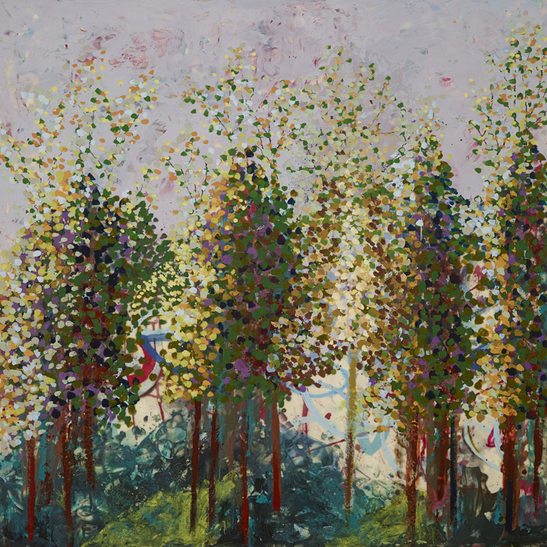 Love Grove, 40 x 40, Encaustic on Panel, $4200