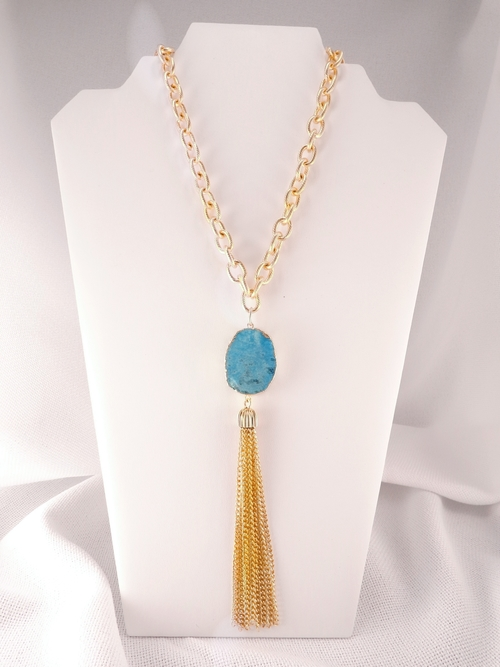 Well-liked Susan Shaw Druzy Tassel Necklace | Lydia Lister Jewelry GP08