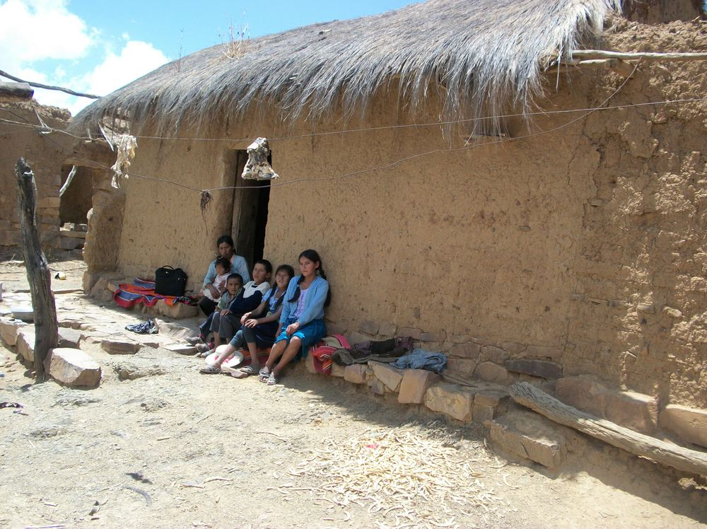 As Bolivians continue to abandon the countryside – 68% of the population is now urban – earth-walled homes such as this one may become harder to find.
