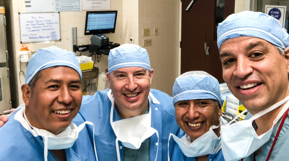 At Northwest Community Healthcare (from left): Doctors Johnny Camacho, Marco Fernandez, Jaime Vallejos, and Malcolm Bilimoria