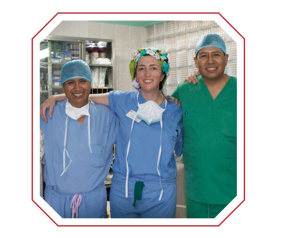 Dr. Garrett and her Bolivian Surgical Colleagues