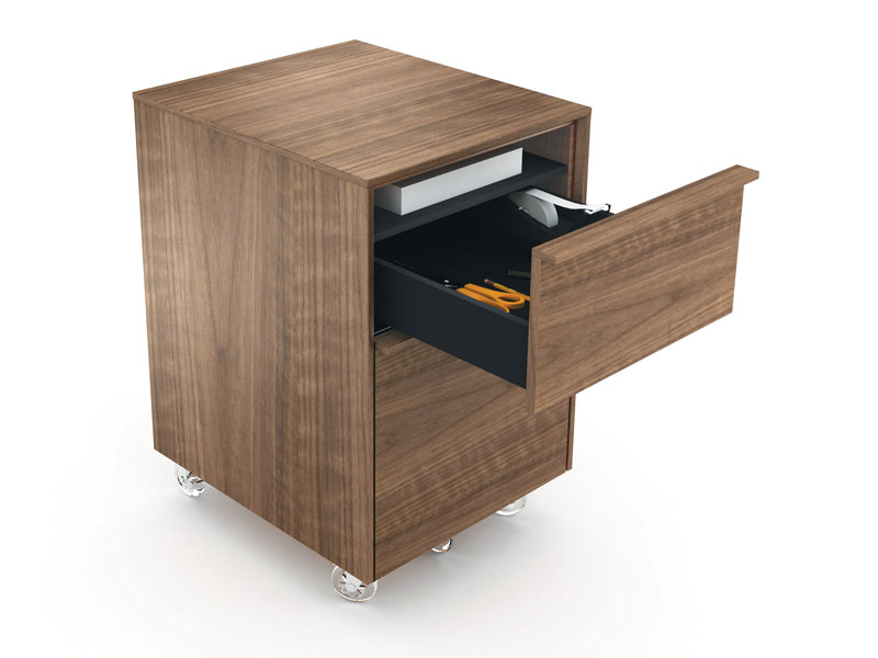 CASCADIA  ® MOBILE FILE CABINET 6207    Overall Dimensions:    25H x 16W x 18D in   64H x 41W x 46D cm