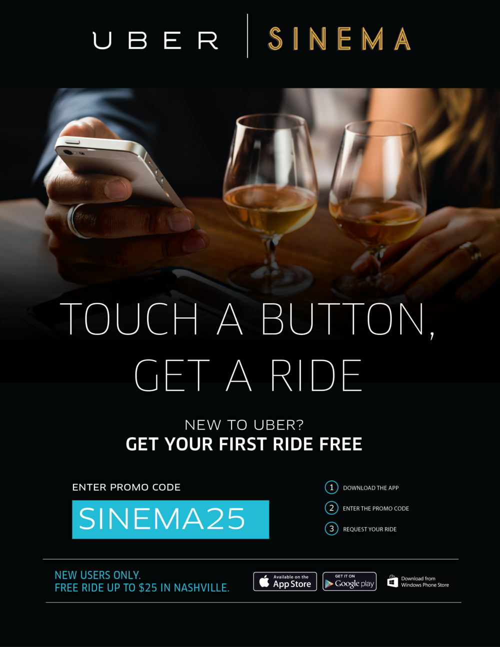 Free uber Ride | Best bars Nashville | Sinema Restaurant