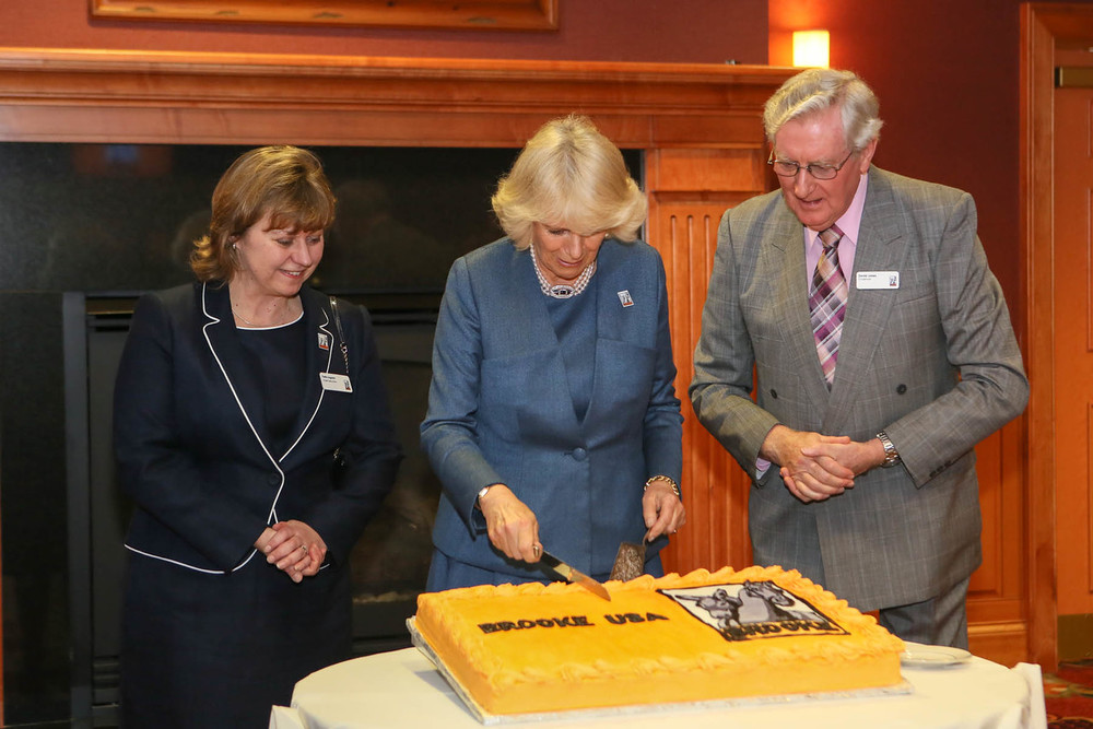 HRH cuts a Brooke cake
